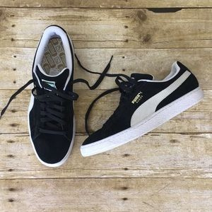 Black and White Suede Puma 🐆 Men's Sneakers